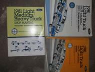 1981 Ford F-150 350 Bronco Truck Service Shop Repair Manual Set FACTORY BOOK OEM