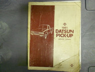 1981 Datsun Pick Up Truck Service Repair Shop Manual Factory OEM 81x