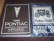 1980 Pontiac BONNEVILLE Service Shop Repair Manual SET W FISHER BODY BOOK OEM X