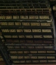 1980 Chevy Chevrolet LIGHT Duty Truck Service Shop Repair Manual SET W UNIT BOOK