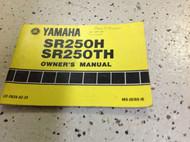 1980 1981 YAMAHA SR250H SR250TH FACTORY OWNERS Manual OEM ORIGINAL x