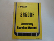 1979 Yamaha SR500F Supplementary Service Manual FACTORY OEM BOOK 79 DEALERSHIP