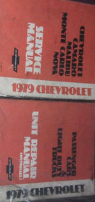 1979 Chevy Monte Carlo Camaro Nova Malibu Service Shop Repair Manual Set W UNIT