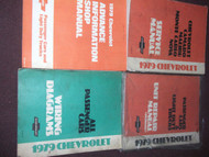 1979 Chevy Monte Carlo Camaro Nova Malibu Service Shop Repair Manual Set W EWD