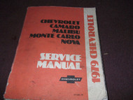 1979 Chevy Monte Carlo Camaro Nova Malibu Service Shop Repair Manual OEM Book 79