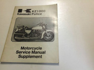 1979 1980 KAWASAKI KZ1000 C2 POLICE Service Repair Shop Manual SUPPLEMENT x