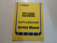 1978 Yamaha XS500E Supplementary Service Manual FACTORY OEM BOOK 78 DAMAGED