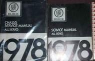 1978 Buick CENTURY ELECTRA ESTATE WAGON Service Repair Shop Manual SET 2 VOLUME