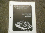1978 Arctic Cat Kitty Cat Illustrated Service Parts Catalog Manual FACTORY OEM x