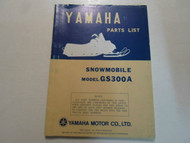 1977 Yamaha Snowmobile Model GS300A Parts List Manual FACTORY OEM BOOK 77 DEAL