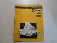 1976 Ski Doo Everest Parts Catalog Manual WATER DAMAGED FACTORY OEM BOOK 76