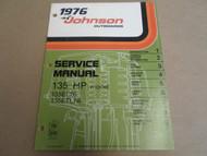 1976 Johnson Outboards Service Manual 135 HP 135EL76 135ETL76 OEM Boat x