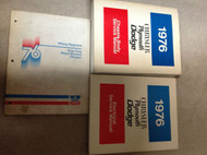 1976 Chrysler Royal Monaco Plymouth Gran Fury Service Shop Repair Manual Set EWD