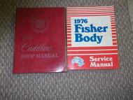 1976 Cadillac FLEETWOOD Service Shop Repair Manual SET FACTORY 76 Dealership X