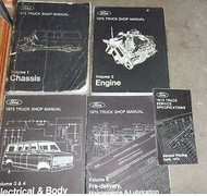 1975 Ford F100 F-150 250 350 Econoline Truck Service Shop Repair Manual Set OEM