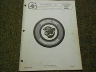 1975 Arctic Cat Panther 440 Illustrated Service Parts Catalog Manual FACTORY OEM