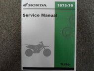 1975 1976 HONDA TL250 TL 250 Service Shop Repair Manual NEW FACTORY HONDA