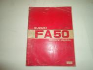 1981 Suzuki FA50 Service Repair Shop Manual DAMAGED FACTORY OEM BOOK 81 DEAL