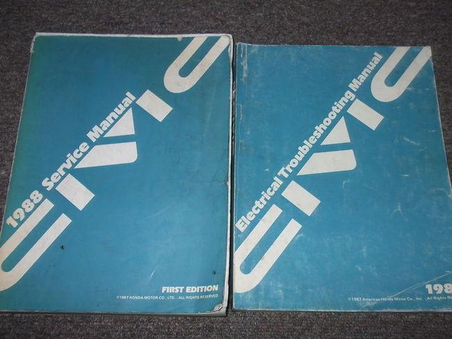 1988 Honda Civic Service Shop Repair Workshop Manual Set W