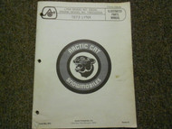 1973 Arctic Cat Lynx Illustrated Service Parts Catalog Manual FACTORY OEM
