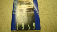 1989 GM Oldsmobile Cutlass Supreme Service Shop Repair Workshop Manual OEM