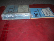 1972 FORD LINCOLN MERCURY CAR CARS Service Shop Repair Manual Set DEALERSHIP OEM