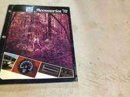 1972 Chrysler Dodge Plymouth Mopar Accessories Manual OEM Roadrunner Charger