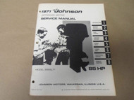 1971 Johnson Outboards Service Shop Repair Manual 85 HP 85ESL71 OEM Boat x
