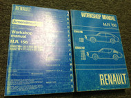 1971 1972 1973 Renault 15 17 MR 156 Service Shop Repair Workshop Manual SET