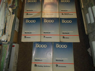 1970s 1980s Saab 9000 Fuel Injection Workbook Service Training Manual 8 VOL SET
