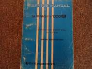 1970 Subaru 1300 Emission Control Service Repair Shop Manual FACTORY OEM BOOK 71