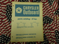 1970 Chrysler Outboard 6 HP Parts Catalog