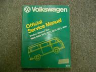 1968 1974 VW Station Wagon Bus Official Service Repair Shop Manual BOOK 68 74 x