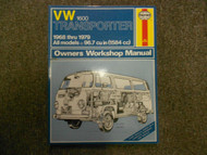 1968 1979 VW 1600 Transporter All Models Owners Service Repair Workshop Manual x