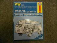 1968 1979 VW 1600 Transporter All Models Owners Service Repair Workshop Manual x