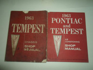 1963 GM Pontiac Tempest Chassis Air Conditioning 2 VOLUME SET FACTORY OEM WORN