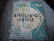 1960 Ford Edsel Maintenance Service Shop Repair Manual Ford 1960 Book OEM