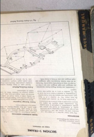 1959 Ford Mercury Maintenance Service Shop Repair Manual MISSING PAGES WORN