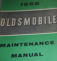 1958 GM Oldsmobile Olds All Models Service Shop Repair Maintenance Manual Reprin