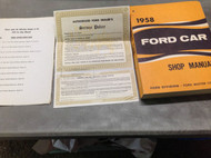 1958 FORD CAR MODELS Service Shop Repair Workshop Manual W Service Policy +