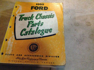 1953 FORD TRUCK Parts Catalog Catalogue Manual OEM BOOK CDN MISSING BACK COVER