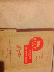 1946 1947 GM CHEVY CADILLAC FISHER BODY Service Repair Shop Manual CDN OEM
