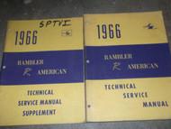 1966 AMC RAMBLER AMERICAN Service Shop Repair Manual SET W SUPPLEMENT X OEM