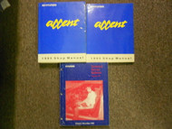 1995 HYUNDAI ACCENT Service Repair Shop Manual SET FACTORY OEM BOOK 96
