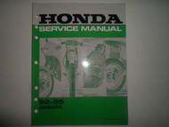 1992 1993 1994 1995 Honda CR500R Service Shop Repair Factory Manual OEM Used