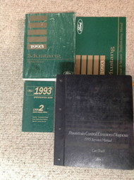 1993 FORD MUSTANG Service Shop Repair Manual Set W PCED + SPECS + Wiring DIAGRAM