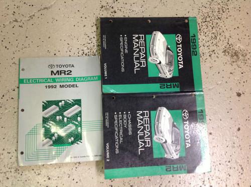 1992 Toyota Mr2 Mr 2 Service Repair Shop Manual Set 92 W