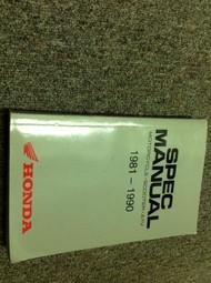 1981 1982 83 85 1986 87 88 1989 1990 HONDA MOTORCYCLE SCOOTER ATV SPEC Manual x