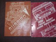 1986 Pontiac Sunbird Service Shop Repair Manual SET OEM W PUBLICATIONS BOOK