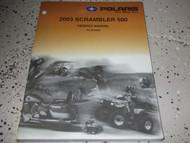 2003 Polaris SCRAMBLER ATV 500 Shop Repair Service Manual FACTORY OEM BOOK X NEW